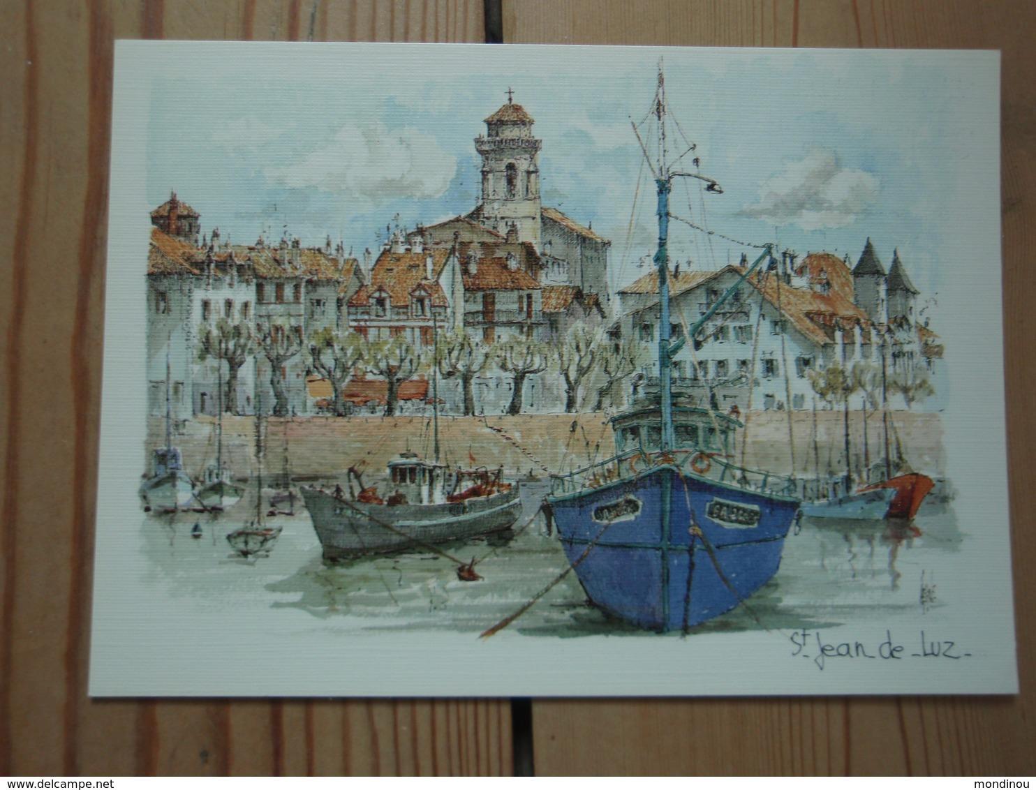Saint-Jean-de-Luz Aquarelle Originale De Robert Lépine - Aquitaine