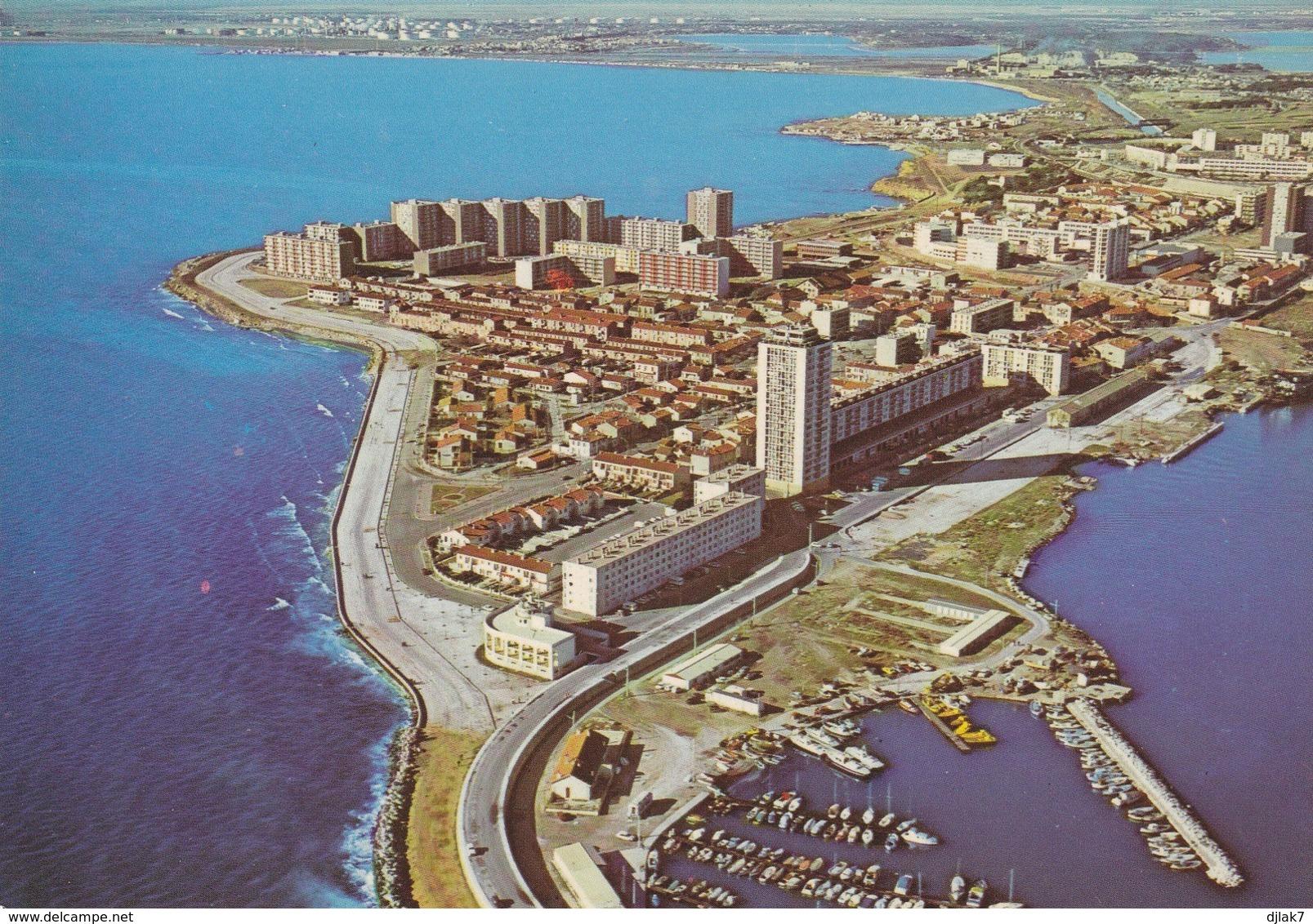 13 Port De Bouc Vue Aérienne (2 Scans) - Autres Communes