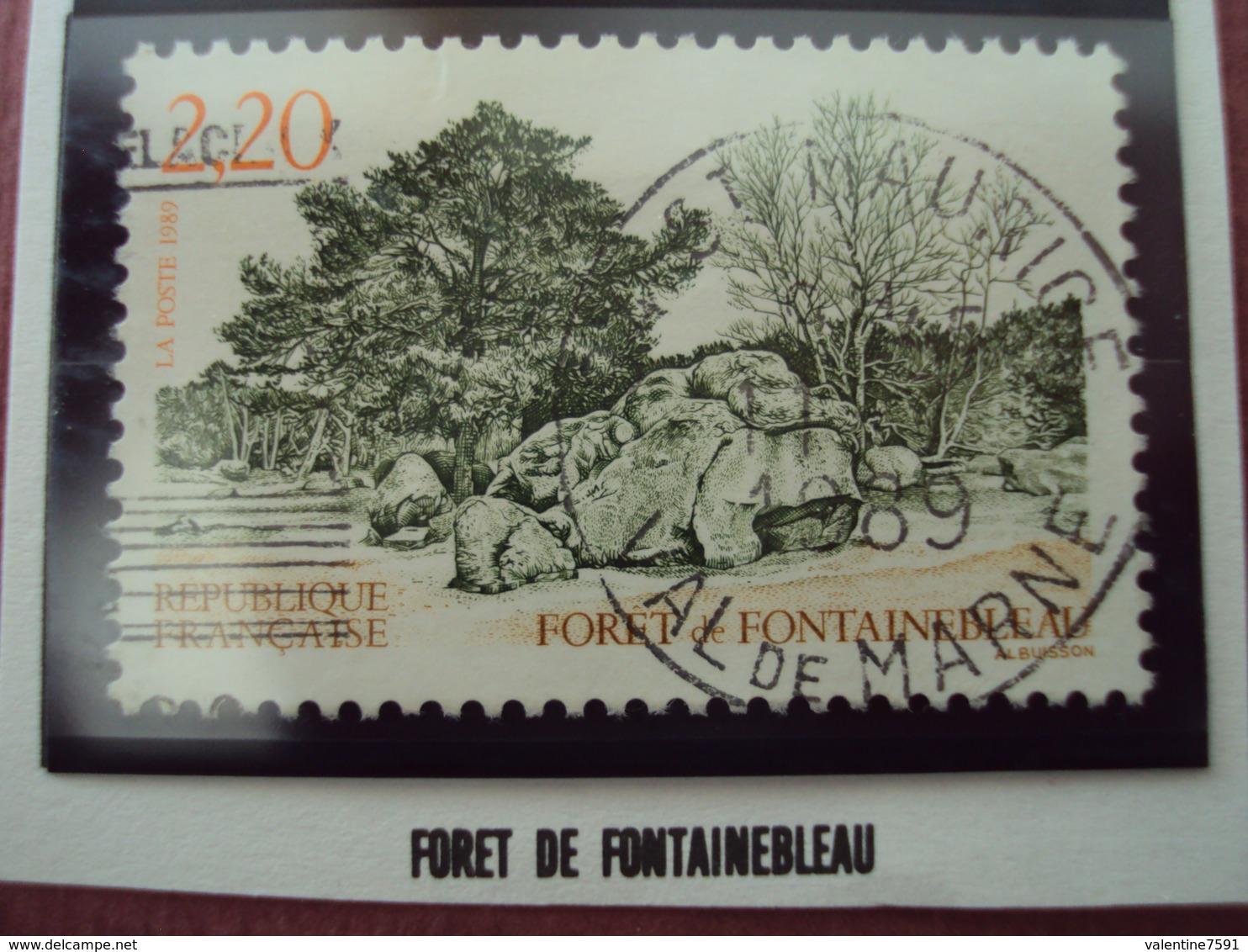 """80-89-  Timbre Oblitéré  N°  2586   """" Foret De Fontainebleau""""    0.30 - France"""