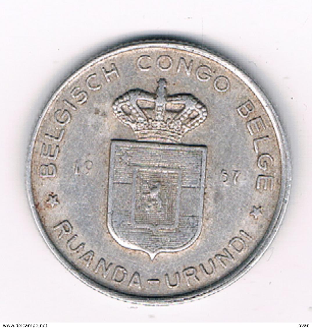 1 FRANC 1957 BELGISCH CONGO /3039/ - Congo (Belge) & Ruanda-Urundi