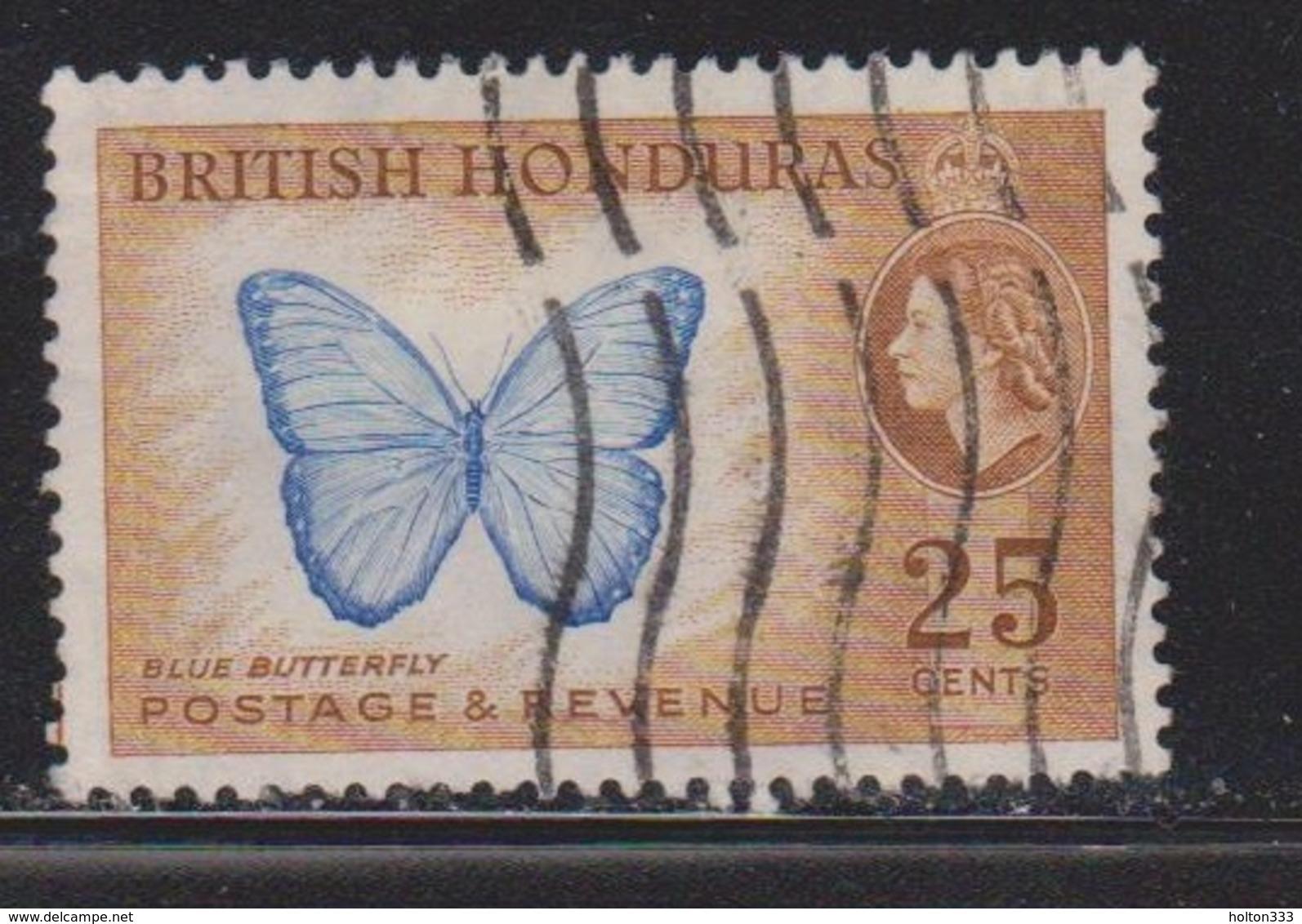 BRITISH HONDURAS Scott # 151 Used  - QEII & Butterfly - British Honduras (...-1970)