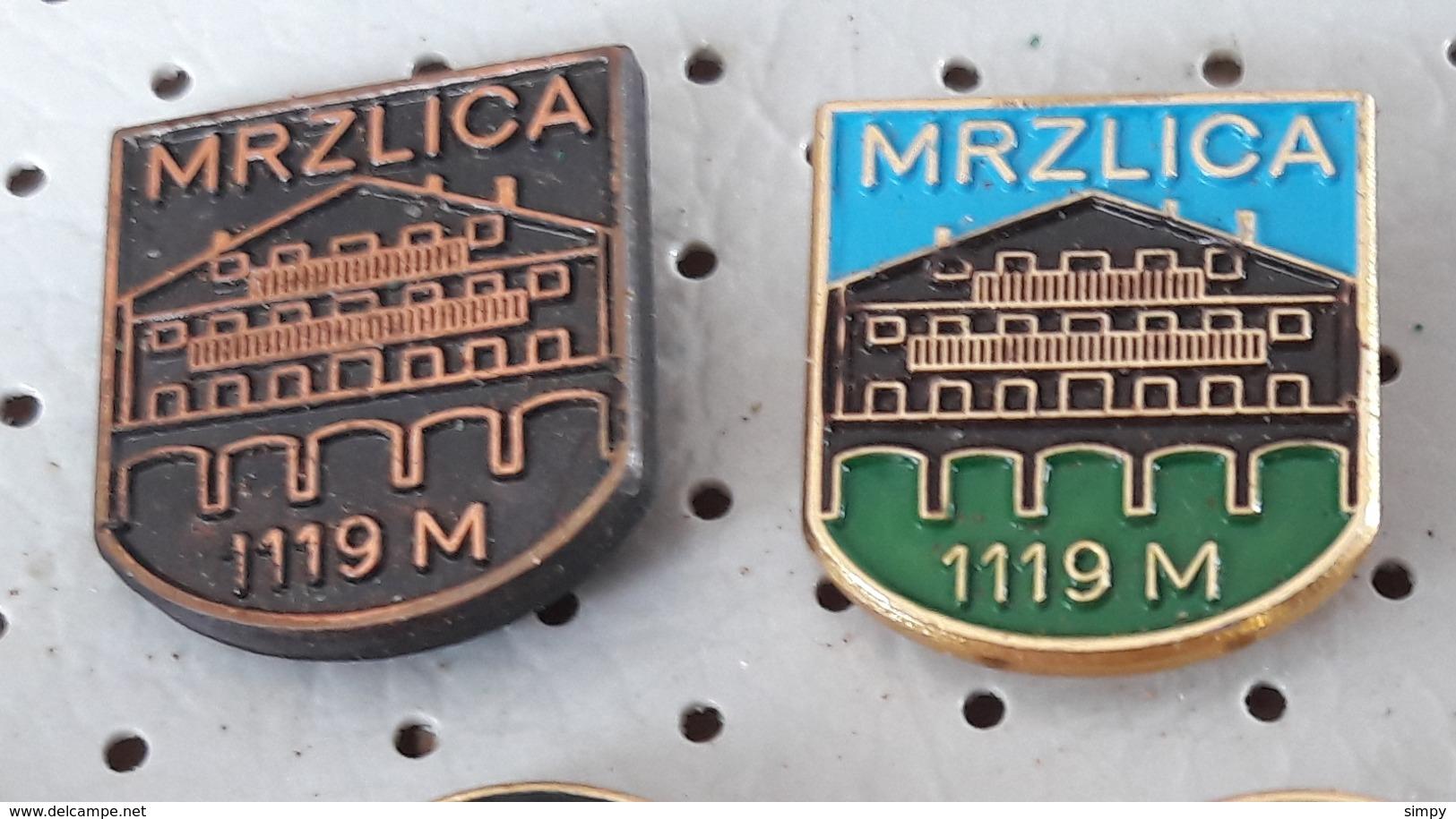 MRZLICA 1119 M Mountain Lodge Alpinism, Mountaineering, Slovenia Pins - Alpinism, Mountaineering
