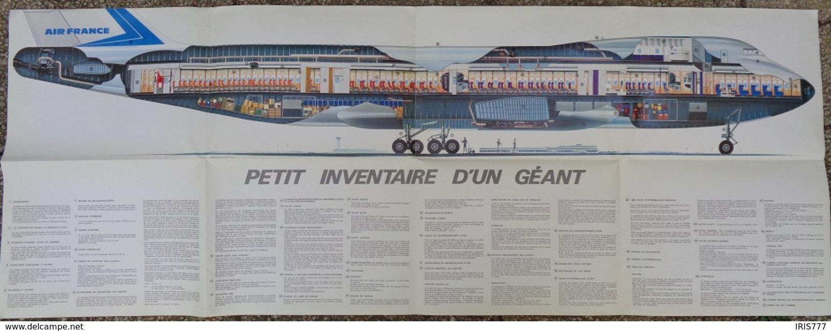 AIR FRANCE - BOEING 747 - PUBLICITÉ DÉPLIANT BROCHURE - Publicités