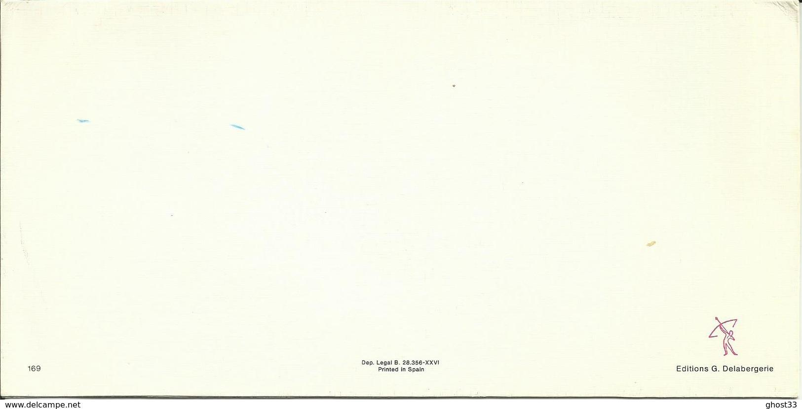 MAXI CARTE POSTALE PORTEFEUILLE - GUYANE - COUCHER DE SOLEIL - Editions G. DELABERGERIE N° 169 - Autres