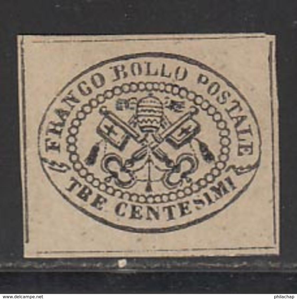Etats Pontificaux 1867 Yvert 13 (*) TB Neuf Sans Gomme - Etats Pontificaux