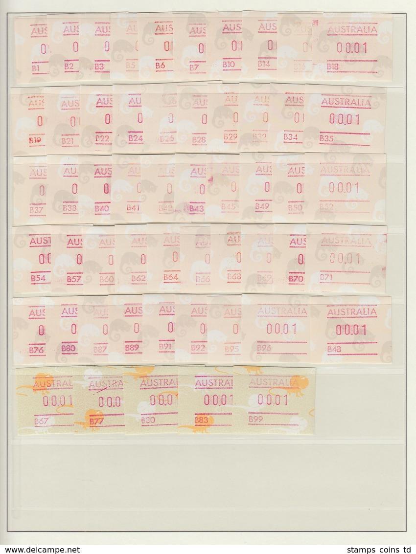 Australien Frama-ATM Ringelschwanz-Opossum 105 Versch. A- Und B-Nummern ** - Vignettes D'affranchissement (ATM/Frama)