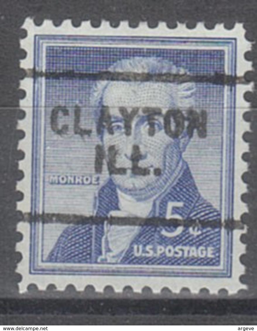 USA Precancel Vorausentwertung Preo, Locals Illinois, Clayton 703 - Vereinigte Staaten