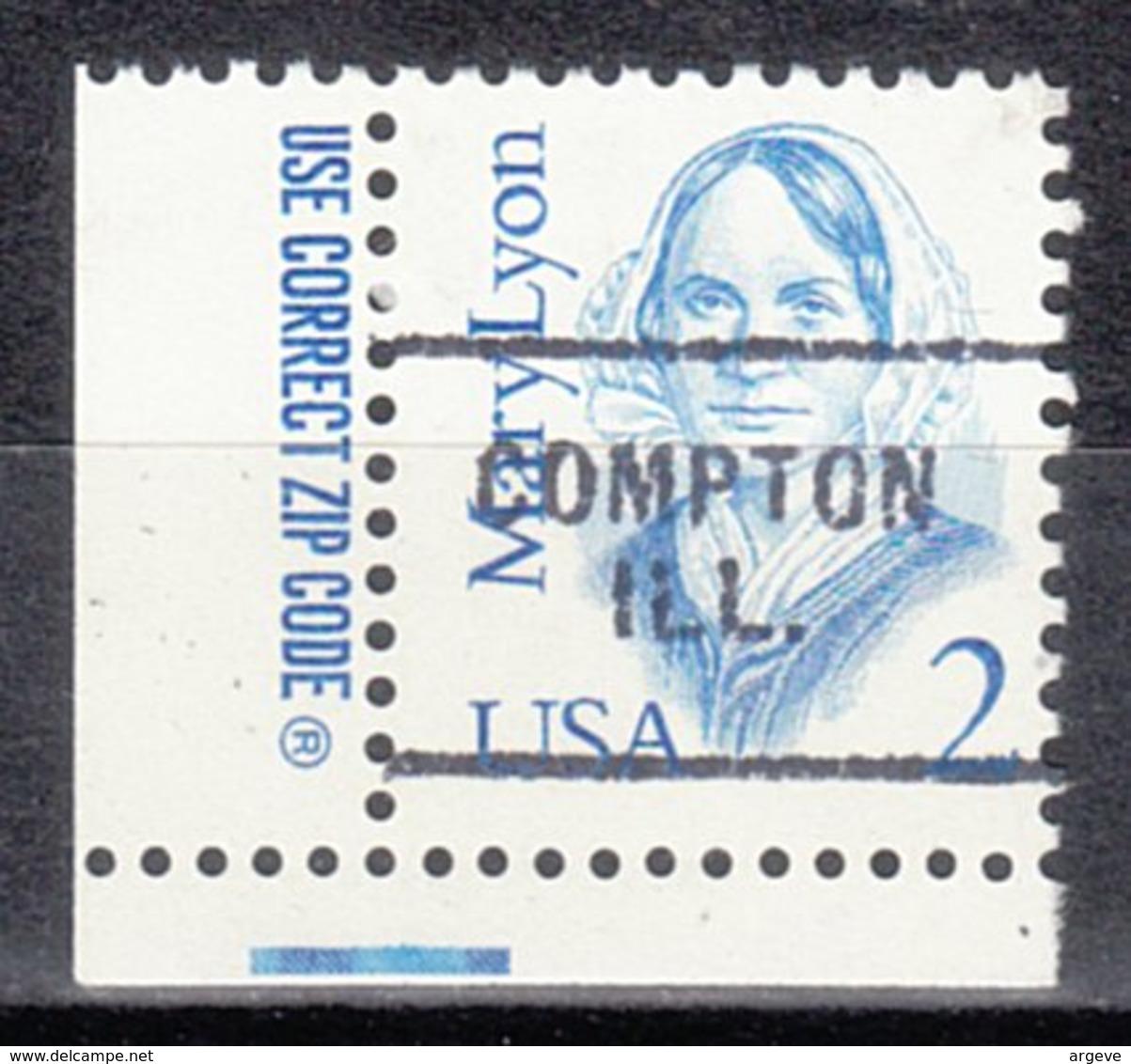 USA Precancel Vorausentwertung Preo, Locals Illinois, Compton 703 - Etats-Unis