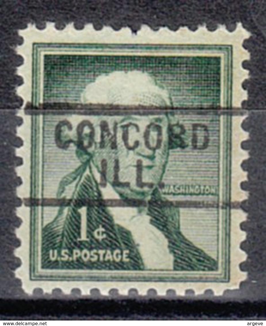 USA Precancel Vorausentwertung Preo, Locals Illinois, Concord 729 - Vereinigte Staaten