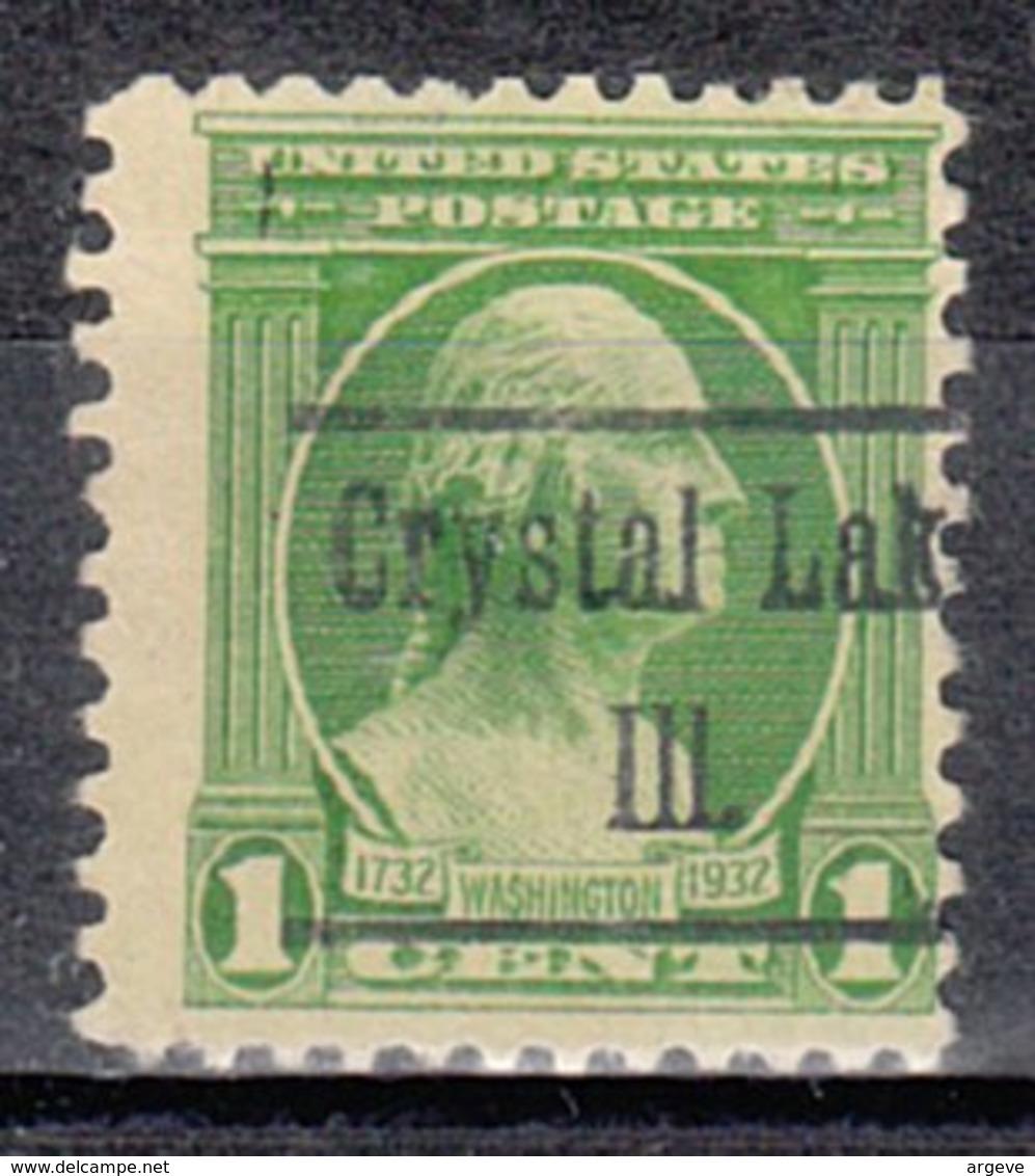USA Precancel Vorausentwertung Preo, Locals Illinois, Crystal Lake 486 - Vereinigte Staaten