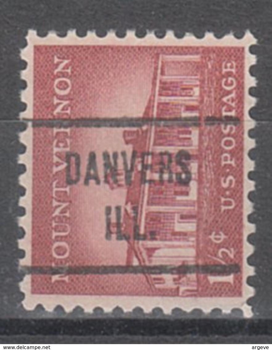 USA Precancel Vorausentwertung Preo, Locals Illinois, Danvers 721 - Vereinigte Staaten