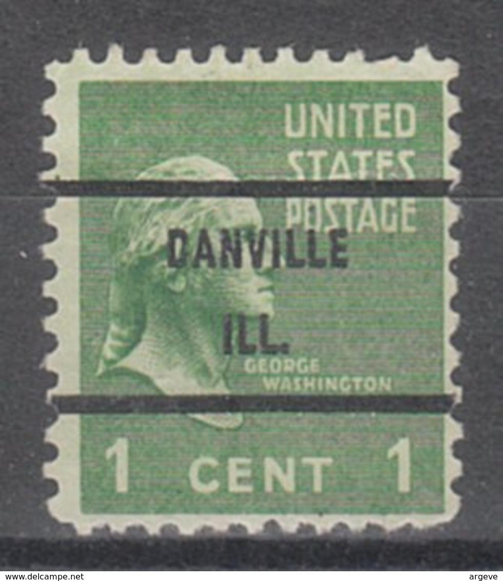 USA Precancel Vorausentwertung Preo, Bureau Illinois, Danville 804-71 - Vereinigte Staaten