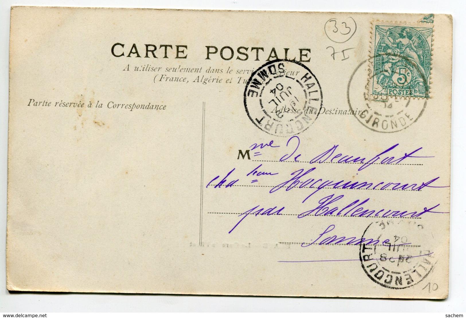 33 BLAYE La Gare De L'Etat Barriques à Quais Attente Chargement 1904 écrite Timb    D05 2019 - Blaye