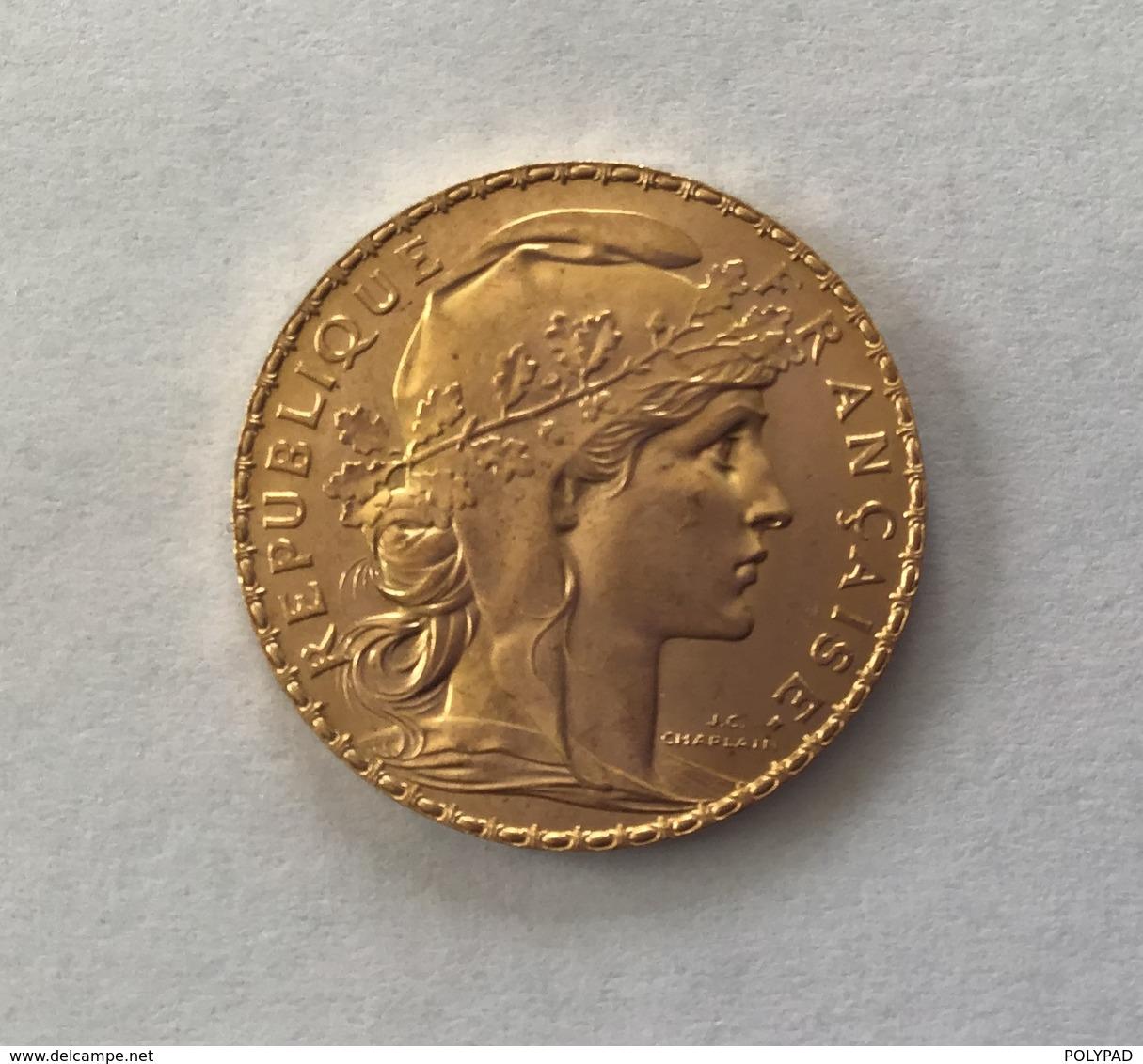 20 Francs Or COQ 1912 - L. 20 Francs