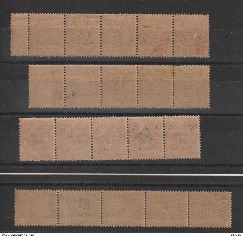 Cilicie 1920 Type Blanc 89 Et Semeuse 90 à 92 En Bandes De 5 Exemplaires ** MNH - Cilicie (1919-1921)