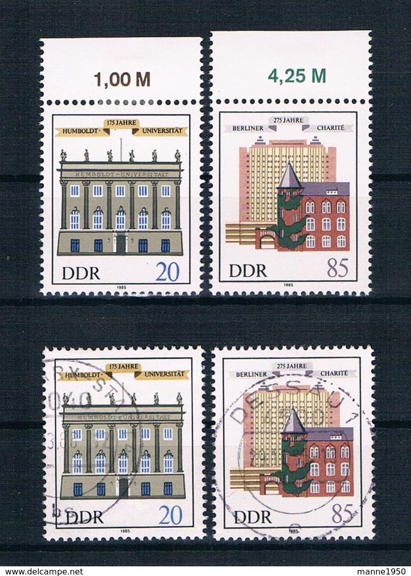 DDR 1985 Uni Mi.Nr. 2980/81 Kpl. Satz ** + Gestempelt - [6] République Démocratique