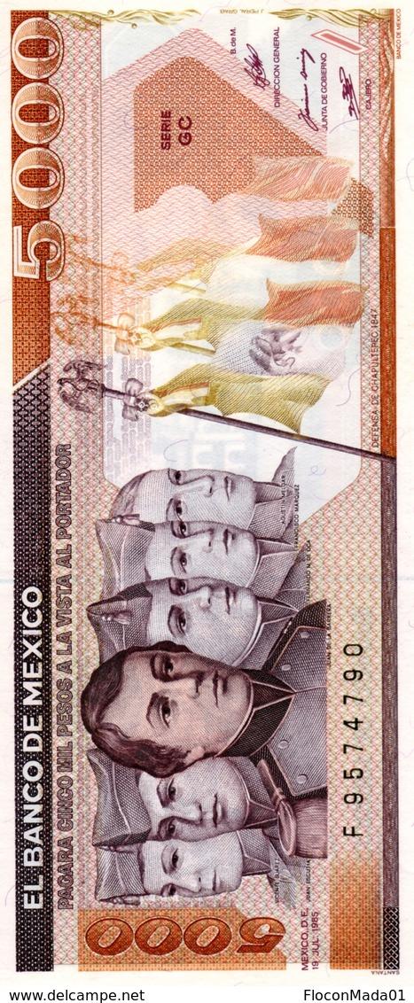 Mexique 5000 Pesos 1985 UNC - Mexique