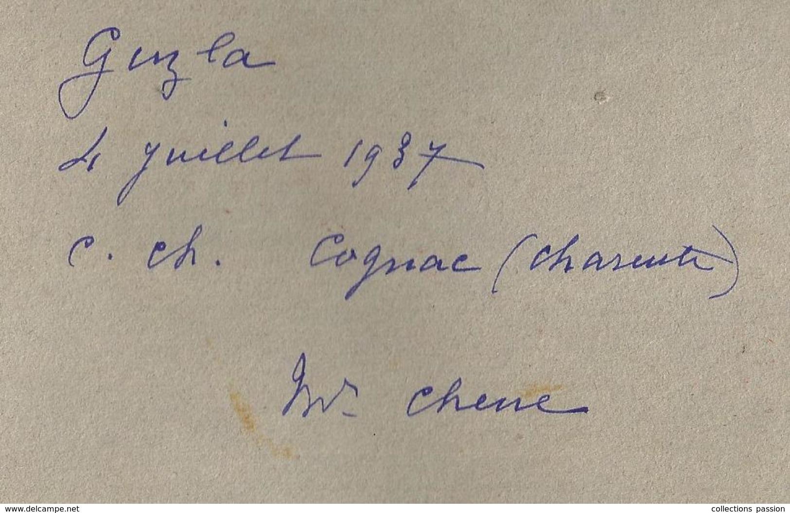 Plaque En Carton , Publicité , Société Canine De COGNAC ,premier Prix ,classe : Champion,1937,2 Scans, Frais Fr : 2.45e - Plaques En Carton