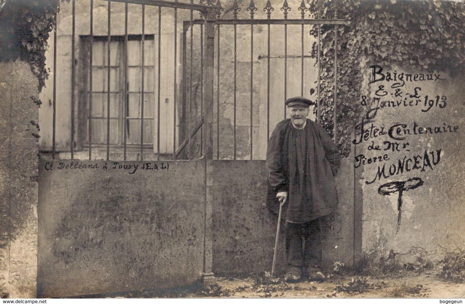 28 BAIGNEAUX 8 Janvier 1913 Fête Du Centenaire Mr Pierre Monceau - France