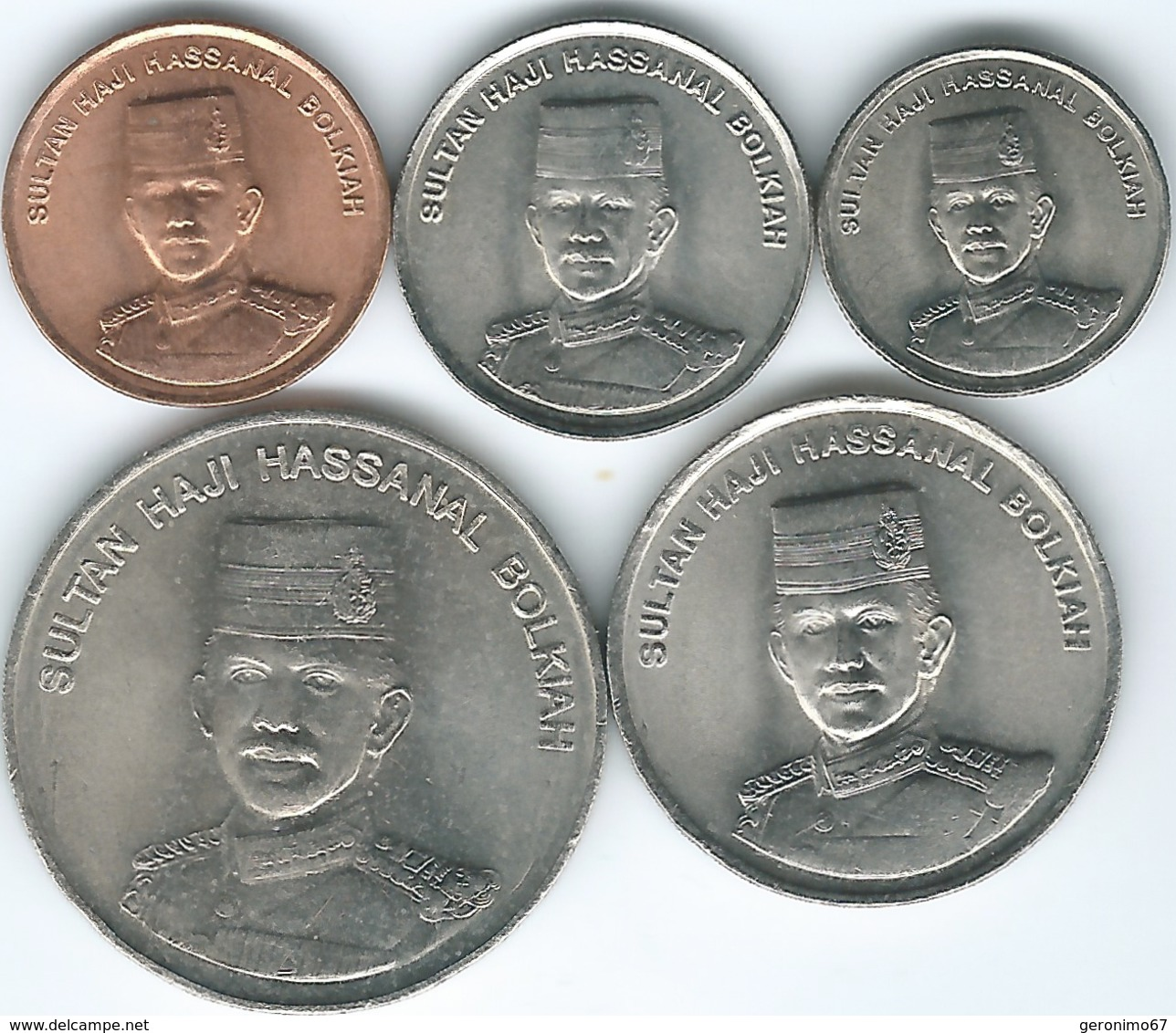 Brunei - 2005 - Hassanal Bolkiah - 2nd Portrait - 1, 5, 10, 20 & 50 Sen (KMs 34-38) - Brunei