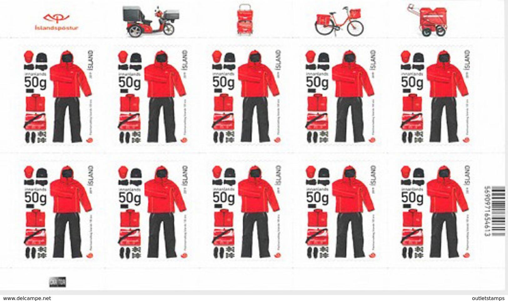 Ref. 598992 * NEW *  - ICELAND . 2019. UNIFORMES DE LOS TRABAJADORES DEL SERVICIO POSTAL - Unused Stamps