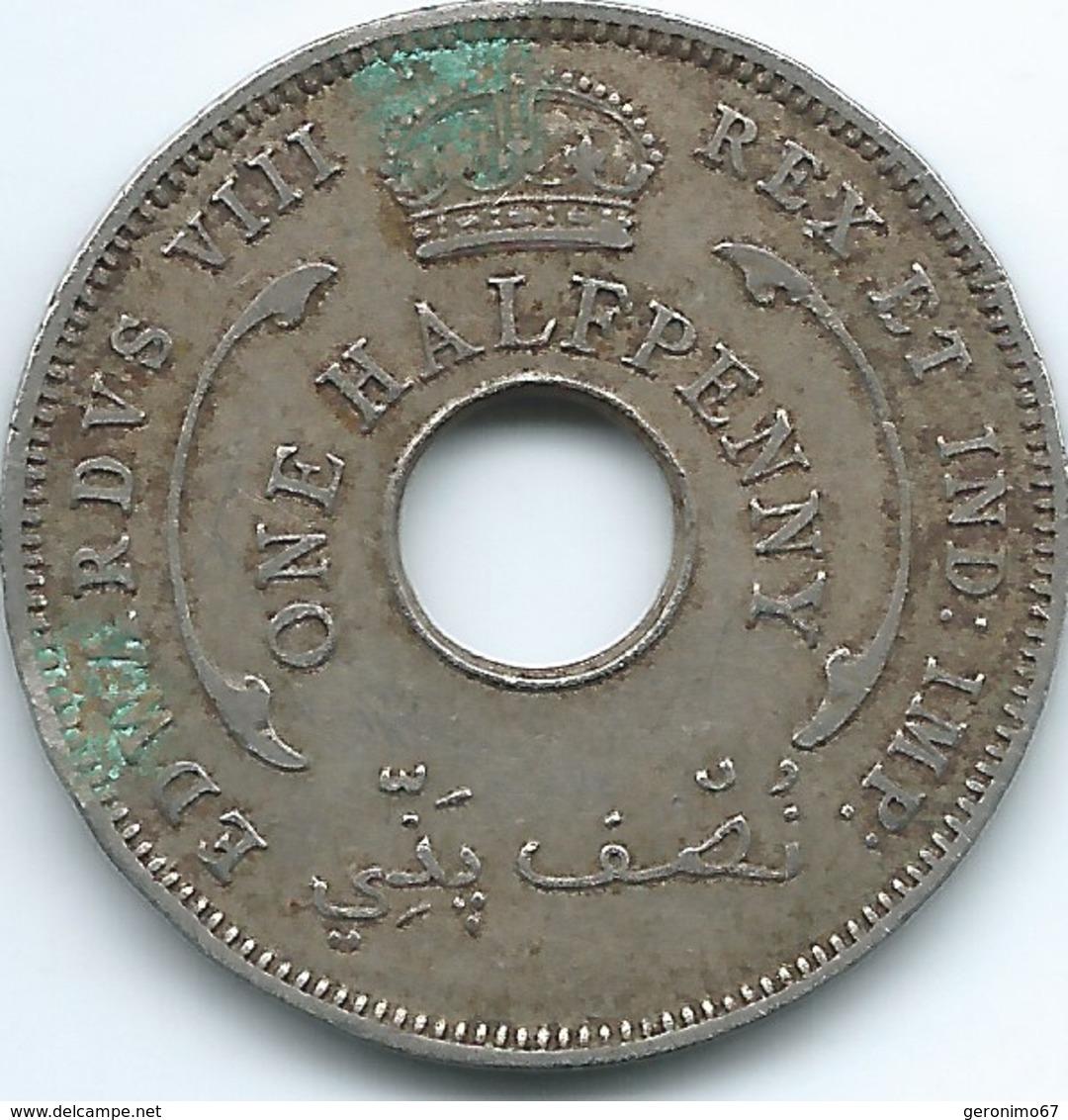 British West Africa - 1936 - Edward VIII - ½ Penny - KM15 - Colonies