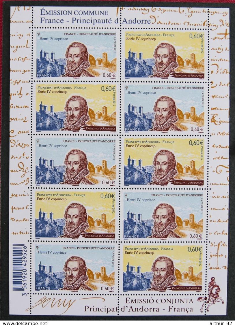 FRANCE - 2012 - YT F 4698 ** - EMISSION COMMUNE FRANCE ANDORRE - Unused Stamps