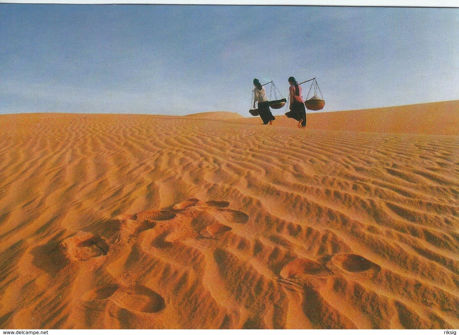 Vietnam. Sand Hill Of The Cape - Binh Thuan Prov.  Sent To Denmark. # 07722 - Vietnam