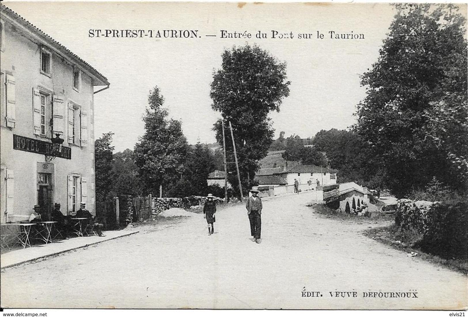 SAINT PRIEST TAURION Entrée Du Port Sur Le Taurion - Saint Priest Taurion