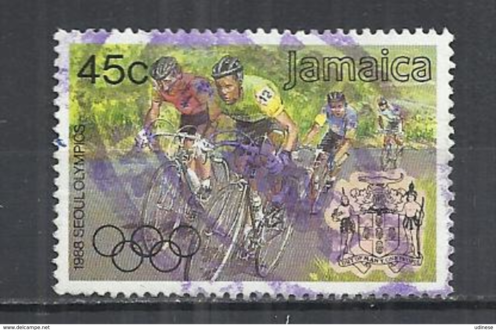 JAMAICA 1988 - OLYMPIC GAMES - POSTALLY  USED OBLITERE GESTEMPELT USADO - Ete 1988: Séoul