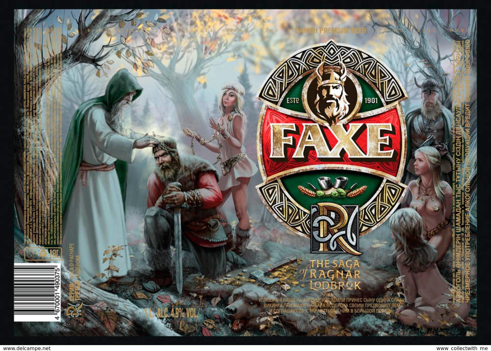 Empty Aluminum Can Faxe The Saga Of Ragnar Lodbrok Vol.3. 1l. - Cannettes