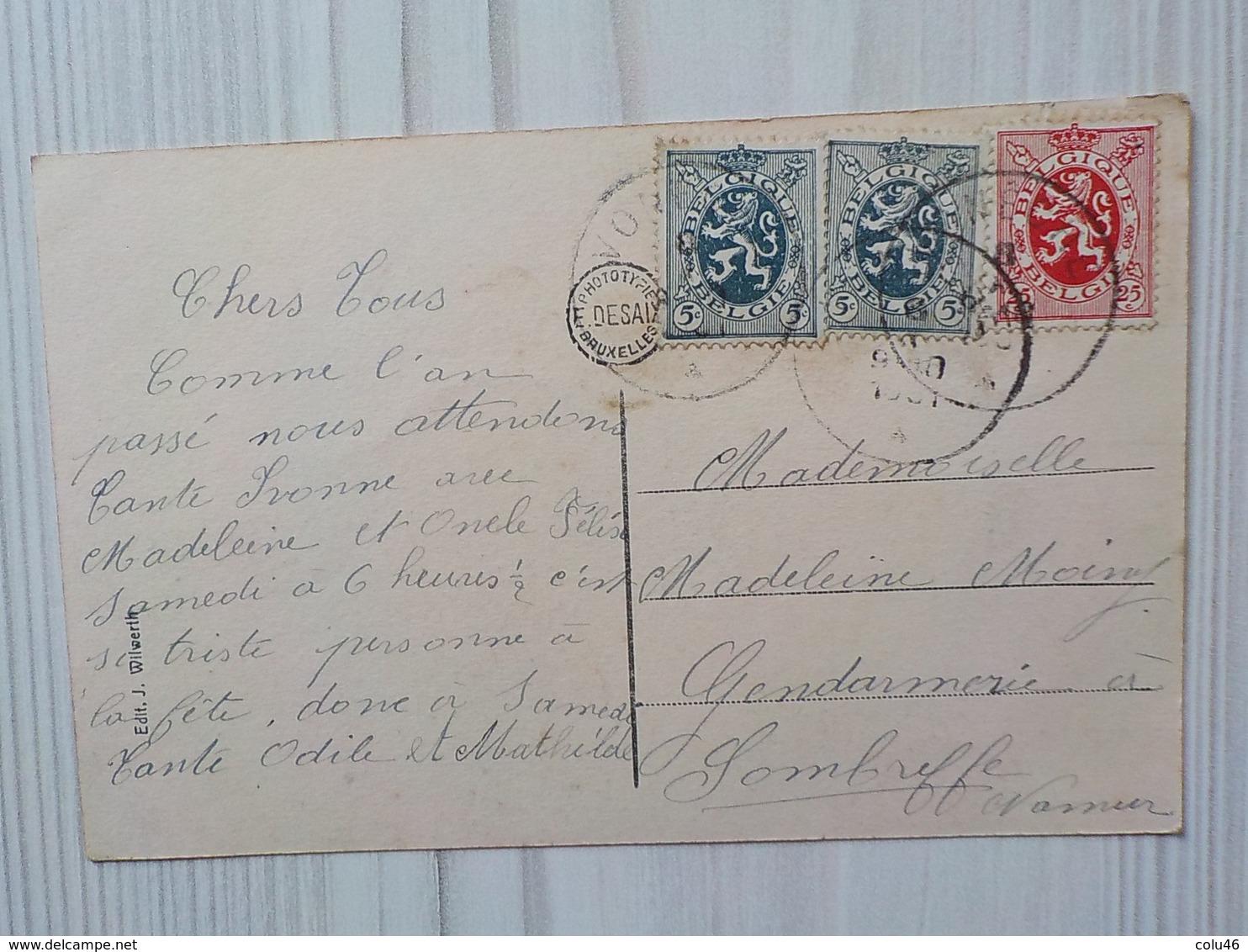 1931 CP Vonèche Route De Bouillon Hôtel Ferme - Bouillon