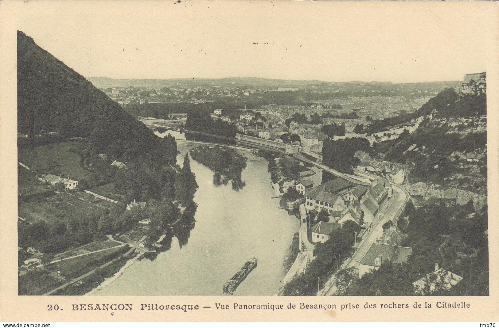 25  Doubs  -  Besançon  -  Besançon  Pittoresque  -  Vue  Panoramique  De  Besançon  Prise  Des  Rochers  De  La  Citade - Besancon