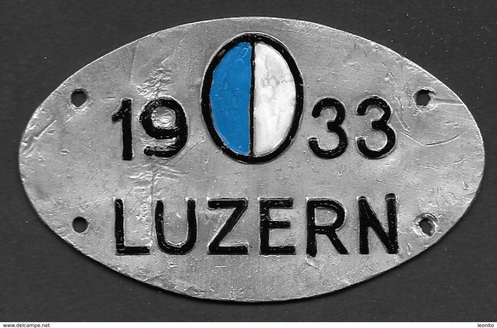 Velonummer Luzern LU 33 - Number Plates