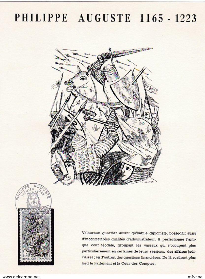L4U306 France Poste Philippe Auguste 0,40 PJ Bouvines Nord 10 11 1967 - Documents De La Poste