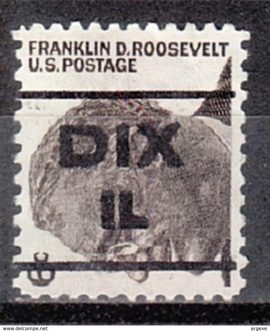USA Precancel Vorausentwertung Preo, Locals Illinois, Dix L-1 TS - Vereinigte Staaten