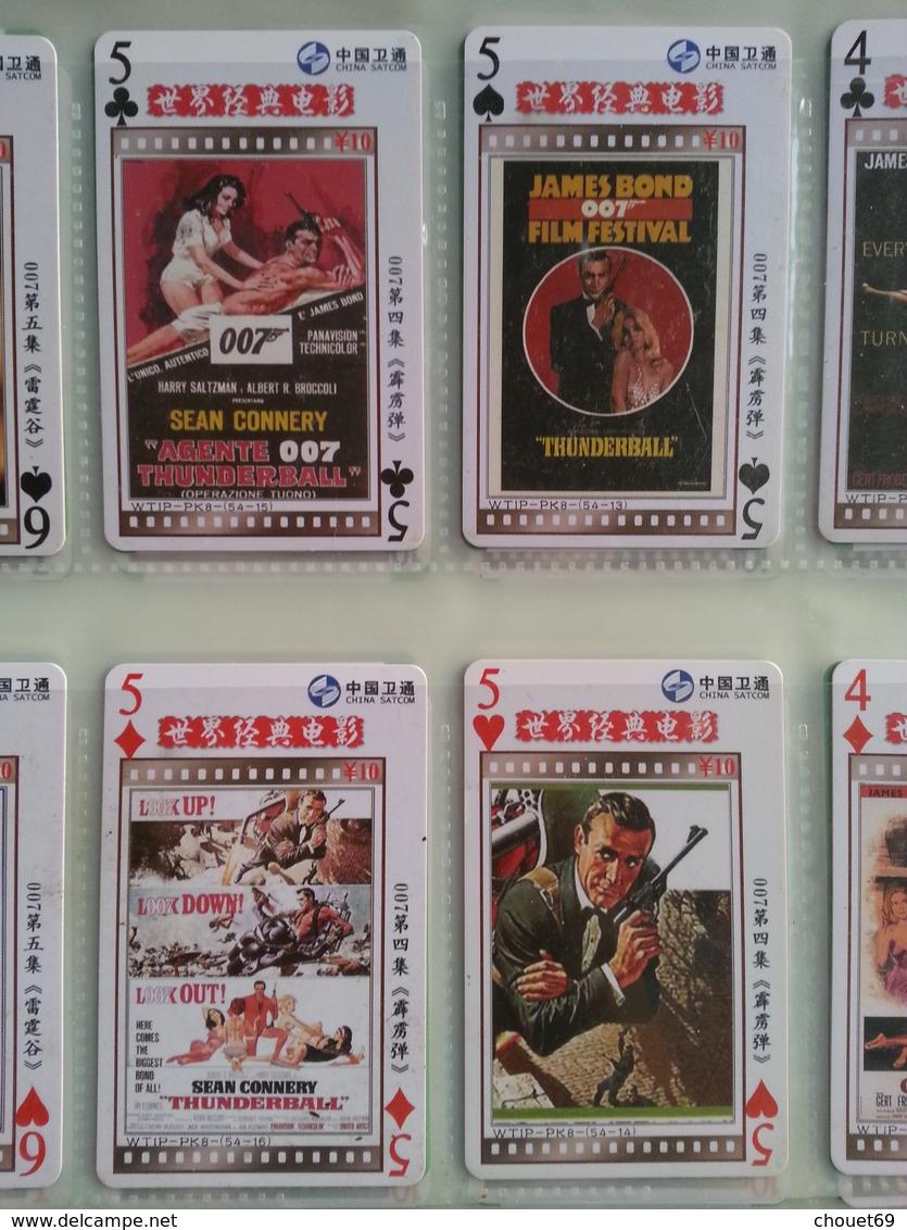 CHINA SAT COM - 007 James Bond Série 54 Cartes Jeu De Carte Complet Affiche Film WTIP - PK8 - Chine