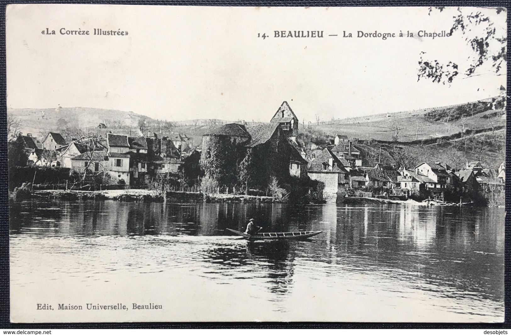 """""""La Corrèze Illustrée"""" 14. BEAULIEU - La Dordogne à La Chapelle - Other Municipalities"""