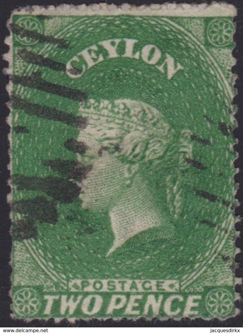 Ceylon    .   SG  .   20b        .  O      .    Gebruikt       .   /    .   Cancelled - Ceylon (...-1947)