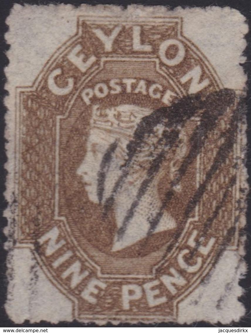Ceylon    .   SG  .   33a       .  O      .    Gebruikt       .   /    .   Cancelled - Ceylon (...-1947)