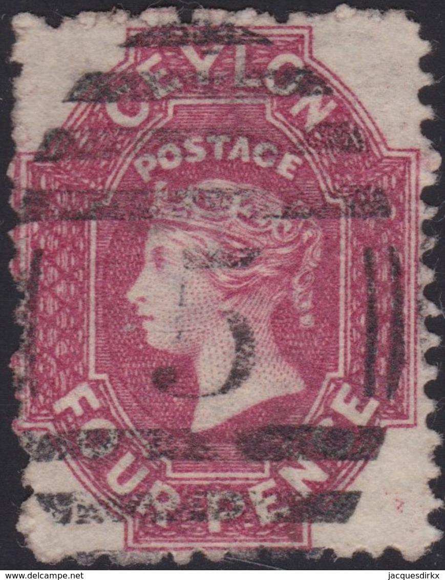 Ceylon    .   SG  .   65b        .  O      .    Gebruikt       .   /    .   Cancelled - Ceylon (...-1947)
