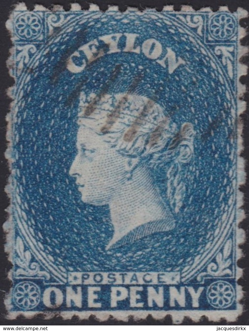 Ceylon    .   SG  .   63        .  O      .    Gebruikt       .   /    .   Cancelled - Ceylon (...-1947)