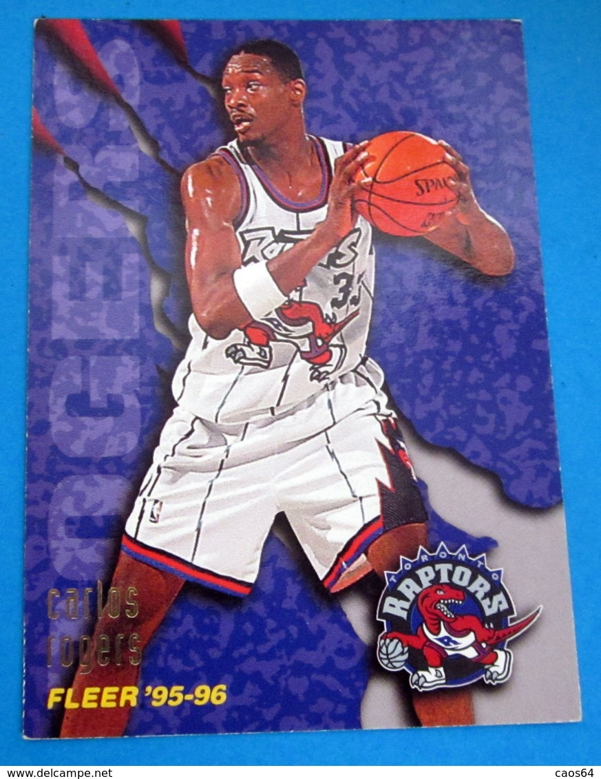 CARLOS ROGERS  CARDS NBA FLEER 1996 N 335 RAPTORS - Altri
