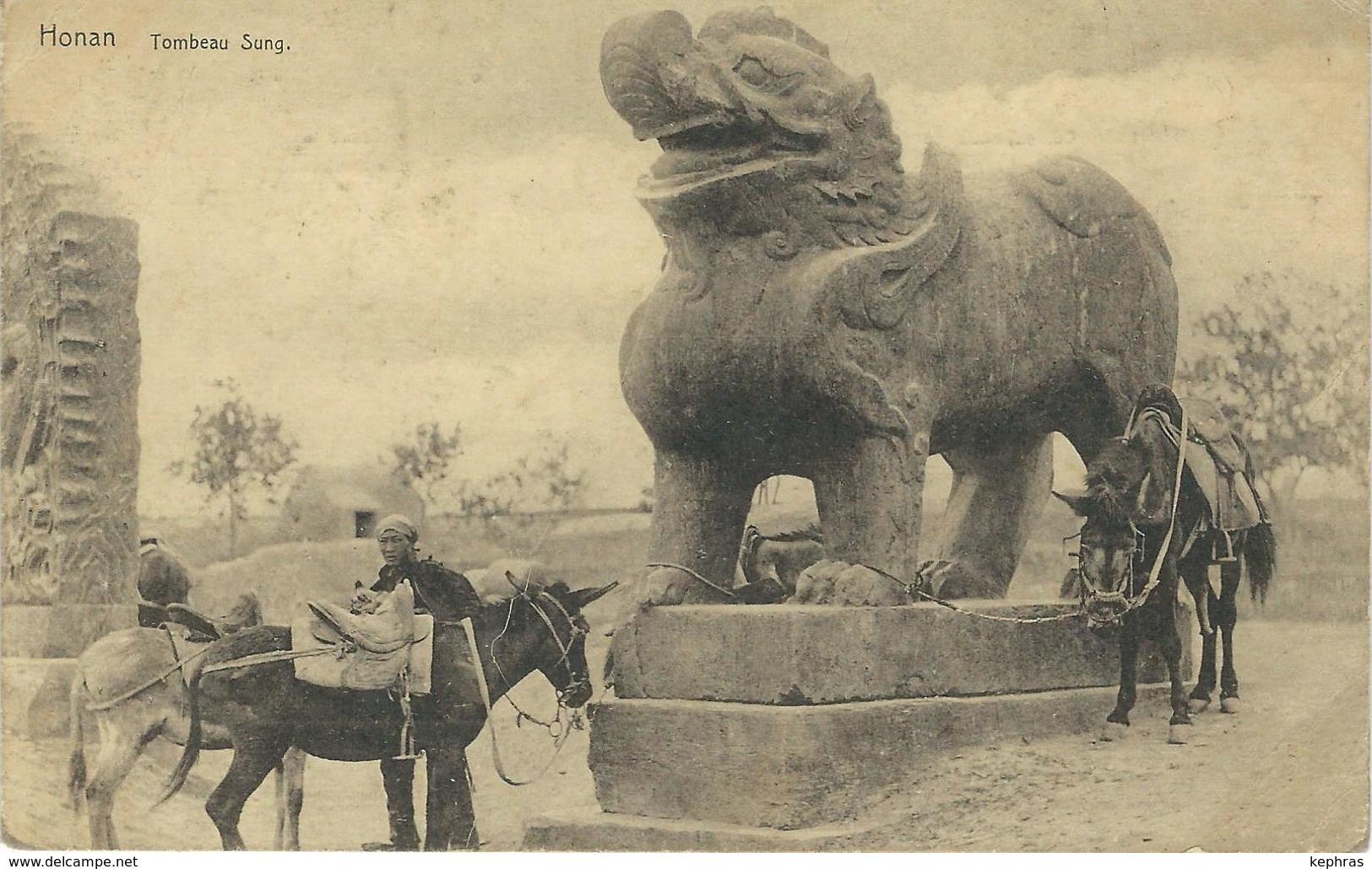 CHINE - CHINA -  HONAN - Tombeau Sung- Cachet De La Poste 1923 - Chine