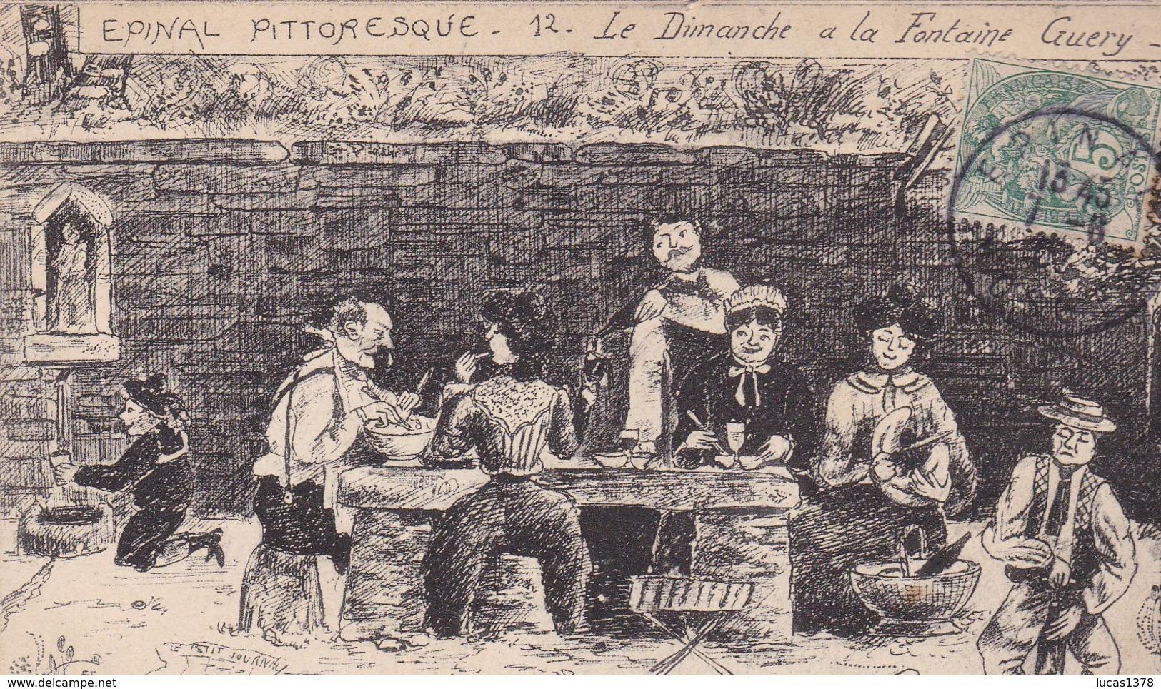 88 / EPINAL PITTORESQUE / LE DIMANCHE A LA FONTAINE GUERY / THOMAS - Epinal