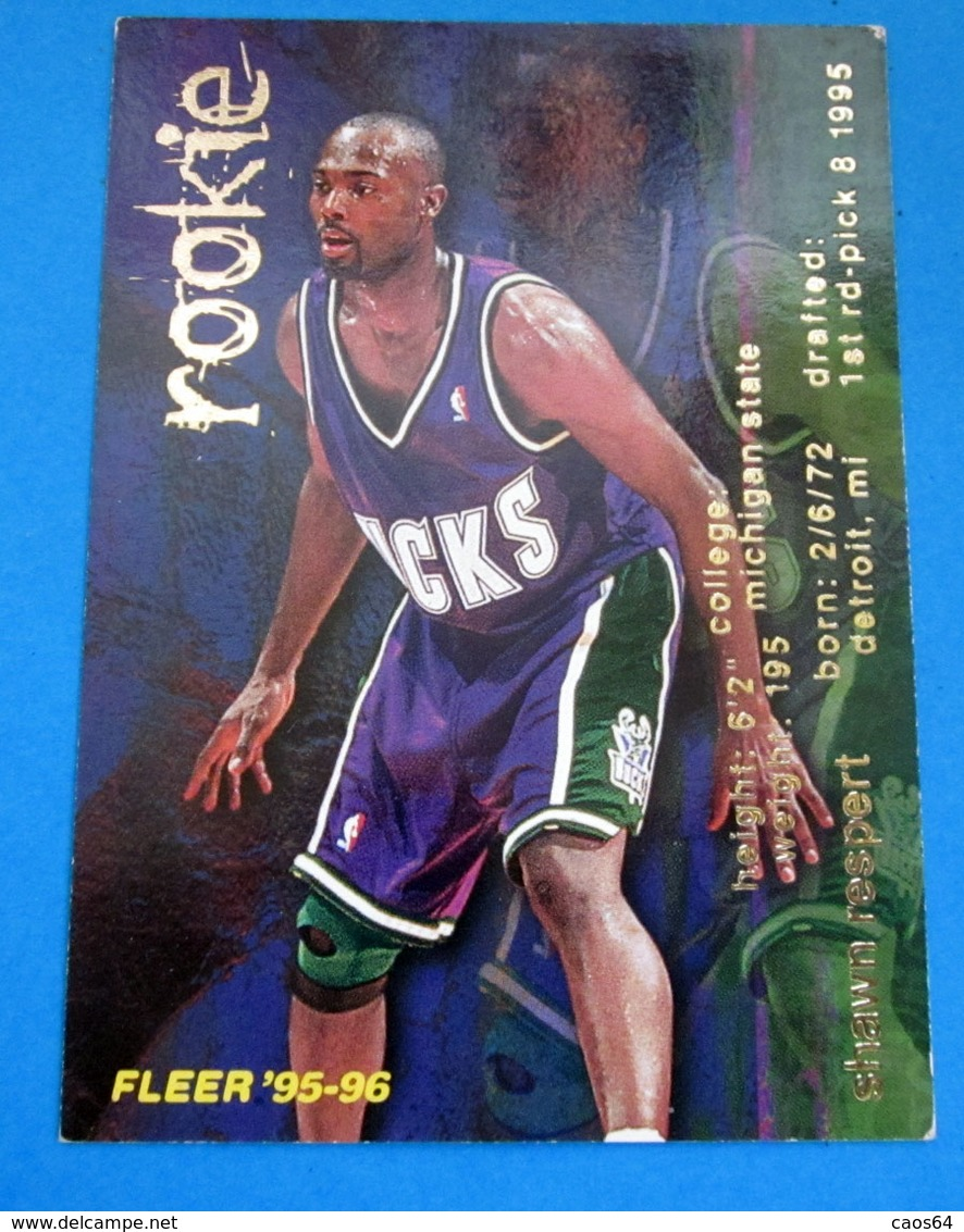 SHAWN RESPERT   CARDS NBA FLEER 1996 N 375 - Altri