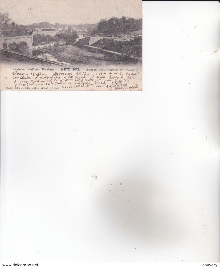 CPA 57 METZ ,Rempart Des Allemands Et Arsenal. (1903) Timbre Allemand. - Metz