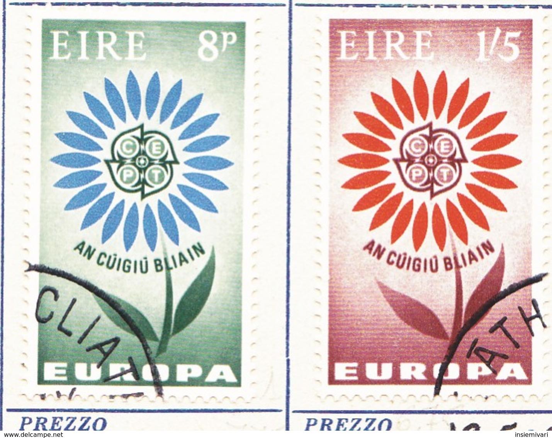 IRLANDA 1964 Europa 2 Valori. - Usati