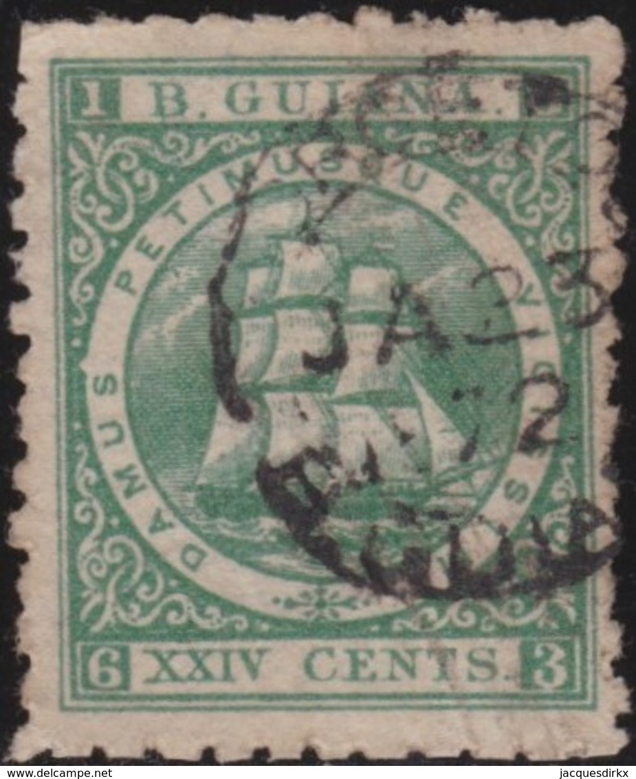 British Guiana     .   SG     .   104    .       O     .   Cancelled     .   /    .   Gebruikt - Brits-Guiana (...-1966)