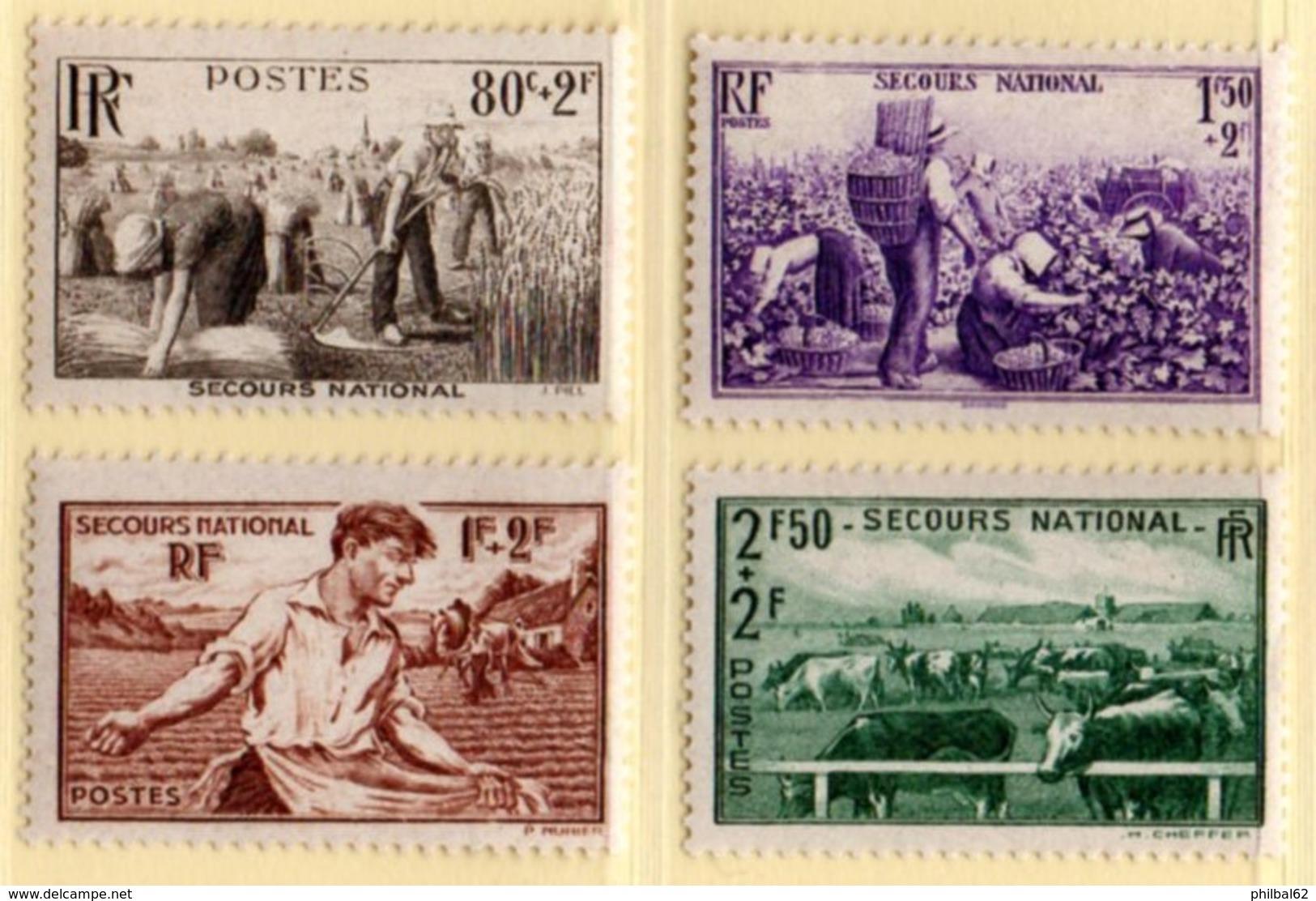 France 1940. Au Profit Des Oeuvres De Guerre. N° 466/69 ** - France